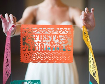 Fiesta Decorations, Papel Picado Banners, Cinco de Mayo, Weddings, Birthday Fiestas, Bachelorette Party Decoration, Fiesta Party Decor