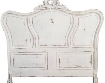 Vintage French Provencial Shabby Chic Headboard- Full Size