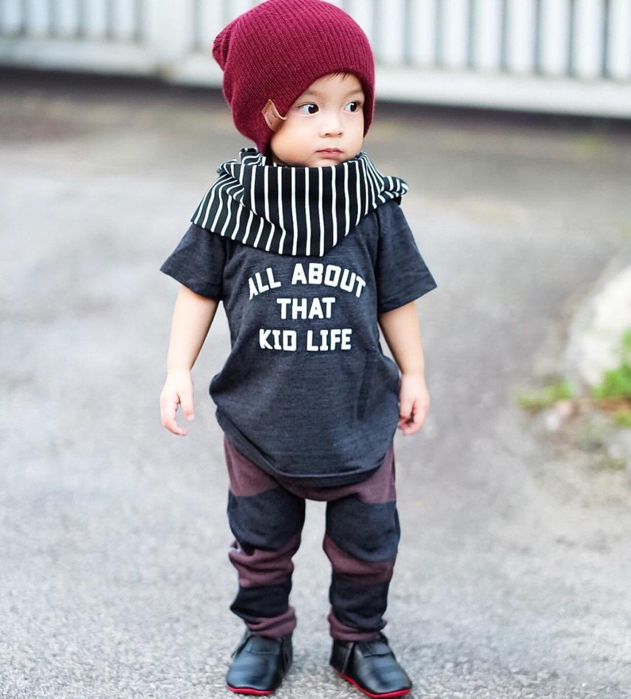 Kid Life Baby Shirt Phrase Quote Infant TShirt T-Shirt Top