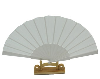 30 white plastic fan parts and loose