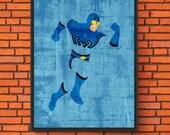 Minimalism Art - Blue Bee...