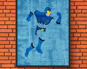 Minimalism Art - Blue Beetle
