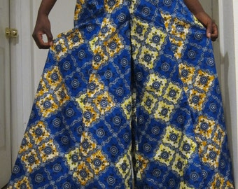 African Extreme Wide Leg Pants