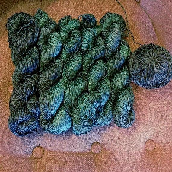 Deep Ocean Hand Dyed Cotton Viscose Sport Weight Yarn From