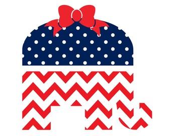 Republican Elephant Decal Sticker