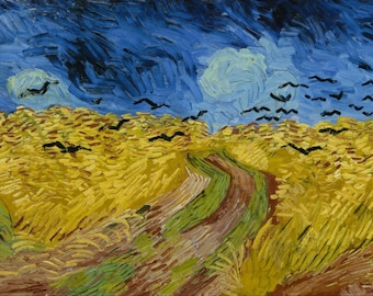 Wheatfield With Crows by Vincent Van Gogh, Giclee Canvas Print