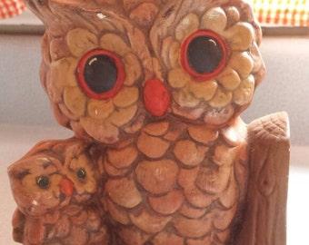 Vintage Owl Book End