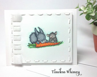 House Mouse Friendship Sharing Handmade Card