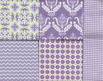 NOTTING HILL COLLECTION, Fat Quarter Fabric Bundle with 5 Designs, Brand New