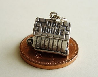 Sterling Silver In the Doghouse Opening Charm