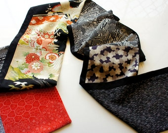 Japanese silk kimono hand made scarf made from new material **S63**