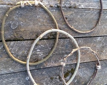 3 twigs hoops dreamcatcher circle natural willow branches dream catcher craft supplies DIY handmade wreath Native American boho bohemian