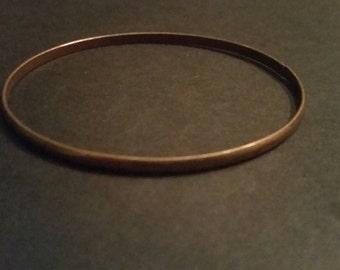 Vintage Copper Bangle Bracelet Boho Jewelry