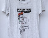 Frida Kahlo T-shirt. The Riveter. Gift Friendly.