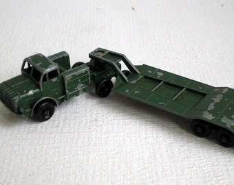 Lesney Matchbox Thorney Antar & Sankey 50 ton Tank Transporter, Made in England, Vintage 1950/1960