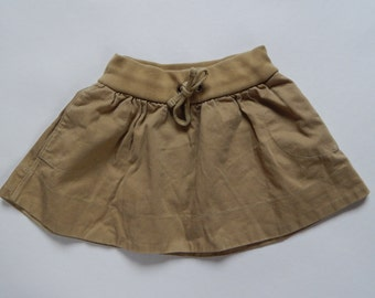 Vintage Girls Skirt  Girls Cotton Khacki Skirt Little Girl Skirt 3- 5 years Ralph Lauren Khacki Skirt