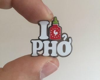 I Love Pho enamel lapel pin