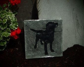 Dog Garden Stone