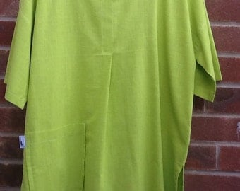Lime green linen tunic