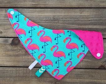 Flamingo Bandana Bib Cuddle Collection