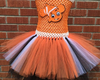 Nemo Tutu Dress - Nemo Halloween Costume - Nemo Costume for Toddlers - Nemo Outfit - Nemo Dress - Finding Nemo Costume - Finding Dory Outfit