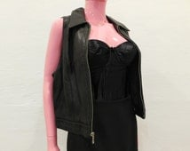 Black Real Genuine Soft Leather Vest by Tannery & West