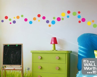 52 Polka Dot/Circle Vinyl Decals - Great in Any Room of the House!