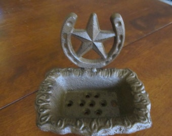 Cast Iron Lone Star Soap Dish