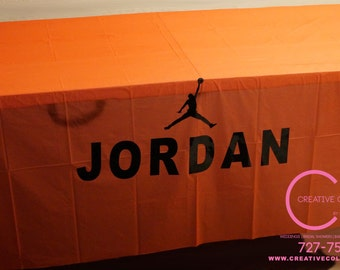 Jumpman Inspired Table Cover