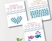 School of Fish Valentine Card