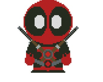 cross stitch pattern Deadpool