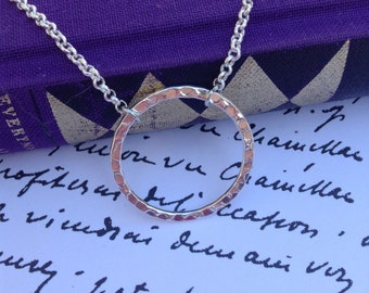 Emma Swan Necklace / Hammered Circle / Captian Swan / Once Upon A Time / OUAT Necklace / Emma Jewelry / Gifts For Her