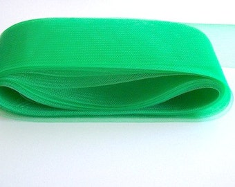 "green crin horsehair 3.2"" wide crinoline fabric (8 cm)"