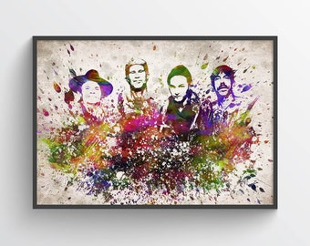 Red Hot Chili Peppers Poster, Home Decor, Gift Idea