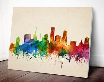 Saint Paul Skyline Canvas Print, Saint Paul Cityscape, Saint Paul Art Print, Home Decor, Gift Idea, USMNSP05C