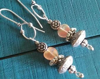 Heart Shaped dangle earring set