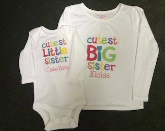 Cutest Big Sister/ Cutest Little Sister Set