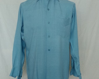 Vintage 'Manhattan Styled By Paul' Men's Button Down Shirt - Medium