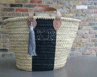 Monogram beach bag | Etsy