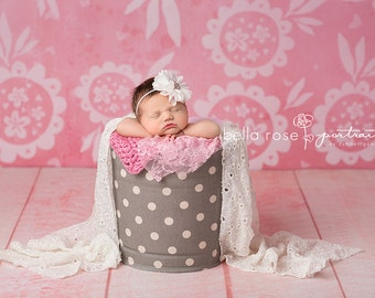 Pink Floral Photography Backdrop Vinyl, Girls Photo Props, Photography Background, Photo Backdrop Spring Summer Baby Newborn Child Kid VD119