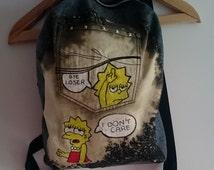Lisa Simpson bleached backpack