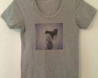 Soft Grey Women's Small Graphic Tshirt