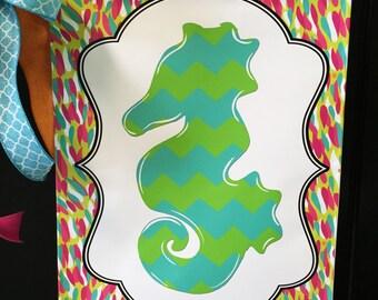 Seahorse Garden Flag, Vinyl Garden Flag, Beach Decor