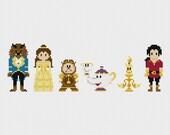 Disney Beauty & the Beast Cross Stitch Pattern PDF Instant Download