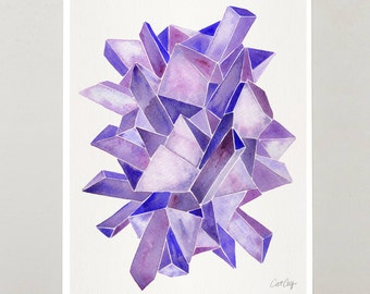 Amethyst Watercolor