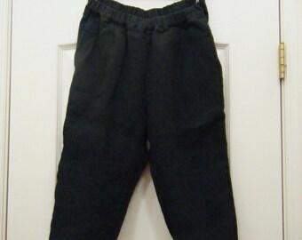 linen pants, daily pants, black pants, capri pants, pants with pockets