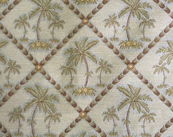 Palm Trees - Sea foam Green - Upholstery Fabric by the Yard