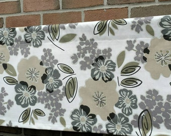 "CLEARANCE!! Window Valance - One Unlined Cotton Curtain Valance. 50"" x 16""  Window treatments. Sydney."