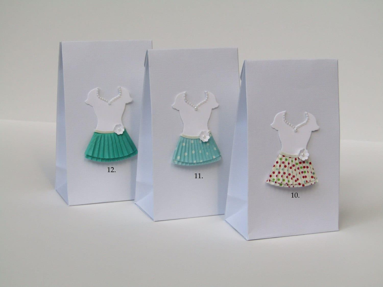 Favor Bags With Paper Dress Wedding Favor By Lovelyhandscrafts
