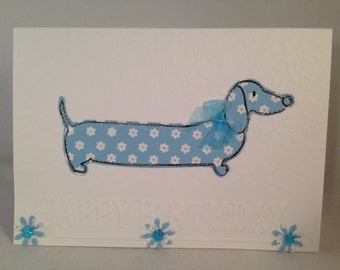 Sausage dog/Dachshund 'Happy Birthday' Birthday Card